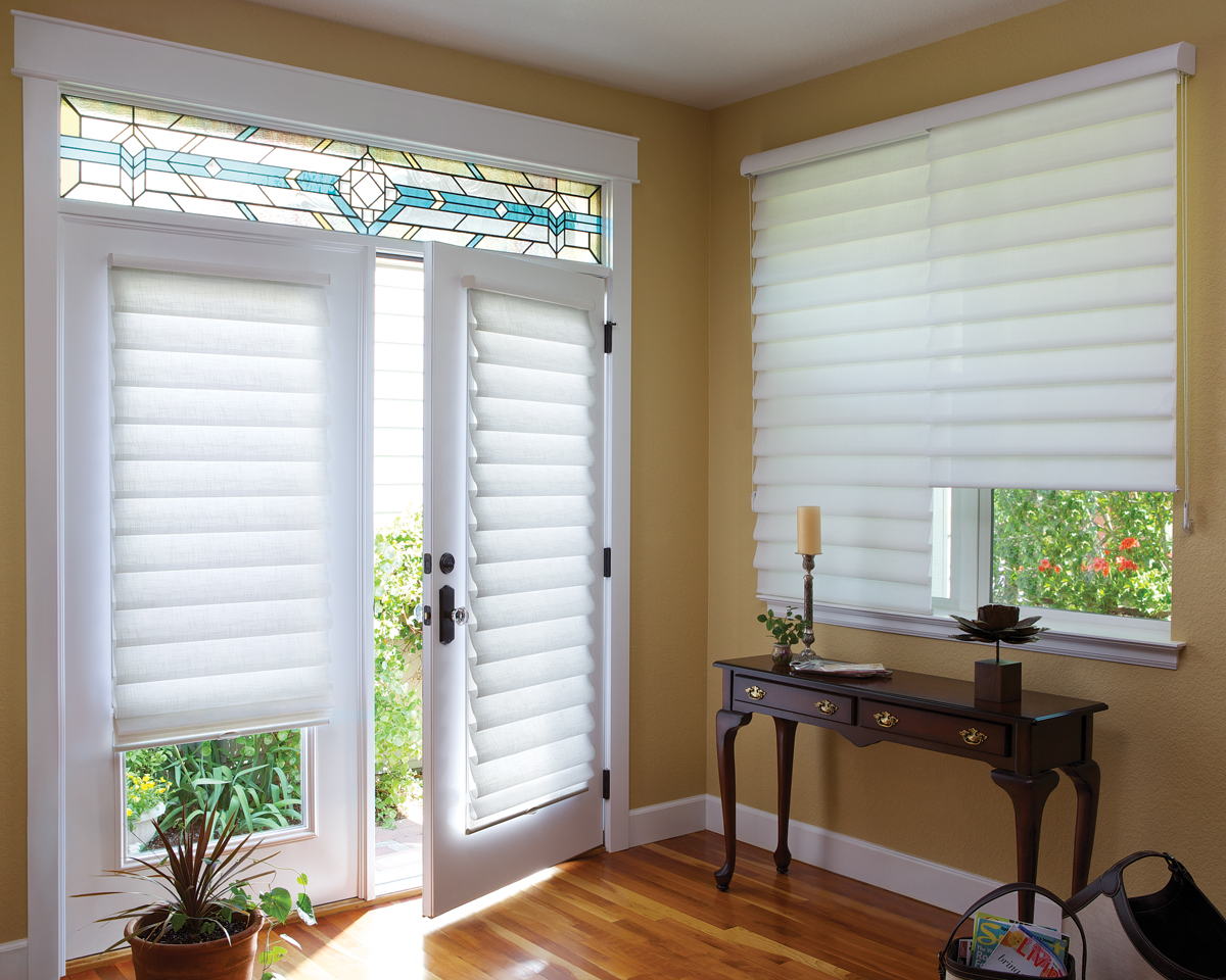Design Versatility Roman Shades For Every Room In Your Home Shades Patio  Doors Second