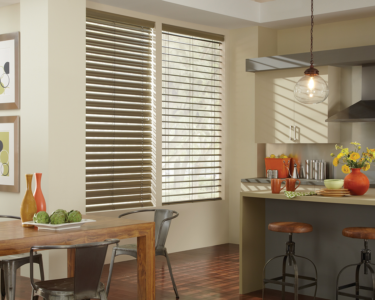 Metallic decor a refreshing look for the new year rocky for Kitchen shades and blinds