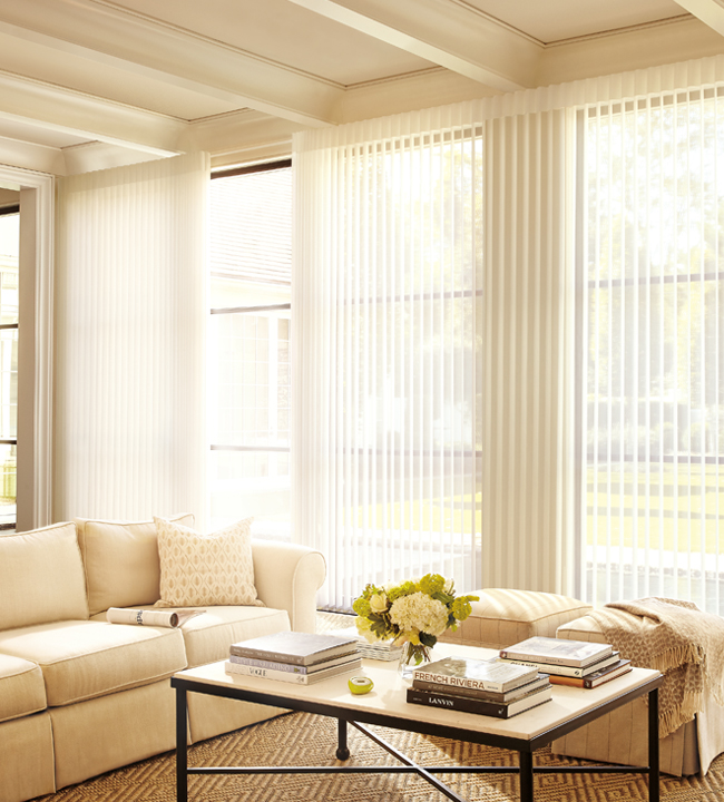 Luminette Floor to Ceiling Window Treatments Rocky Mountain Shutters & Shades Denver