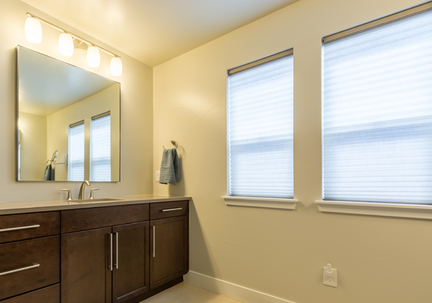 honeycomb shades bathroom window treatments