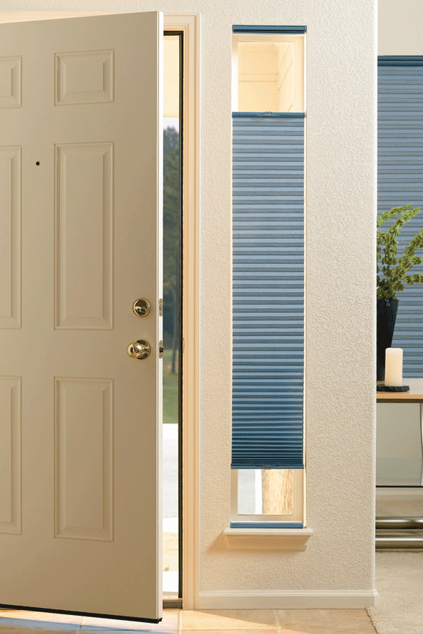 Need ideas window coverings for your doors for Door window shades blinds