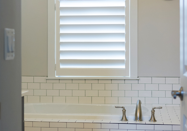 Window coverings gallery denver window treatments - Plantation shutters for bathroom ...