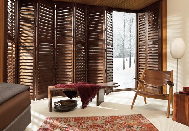 Hunter Douglas Denver heritance wood shutters