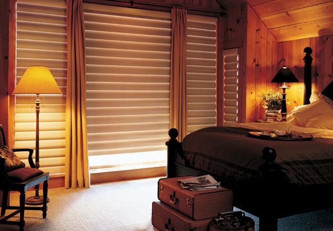 hunter douglas denver pirouette shades bedroom